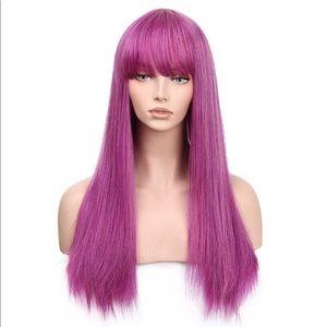 Pink Purple Straight Wig
